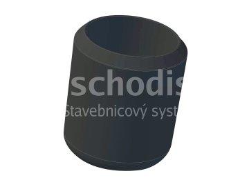 Koncovka zinkovaného prutu 10 mm - černé PVC