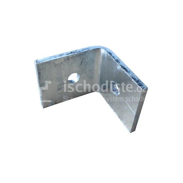 L profil - kotvení podpěry k podlaze
