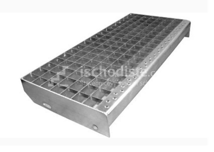 Schodišťový stupeň POROROŠT 600 x 270 x 30 mm - 30/30 mm