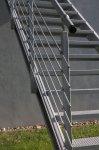 Zinkovaný sloupek zábradlí 40 x 40 mm