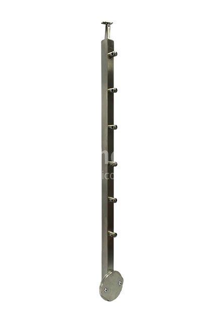 Nerezový sloupek zábradlí 40 x 40 mm