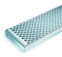 Schodišťový stupeň MARBLE 800x250x45 mm - NEREZ