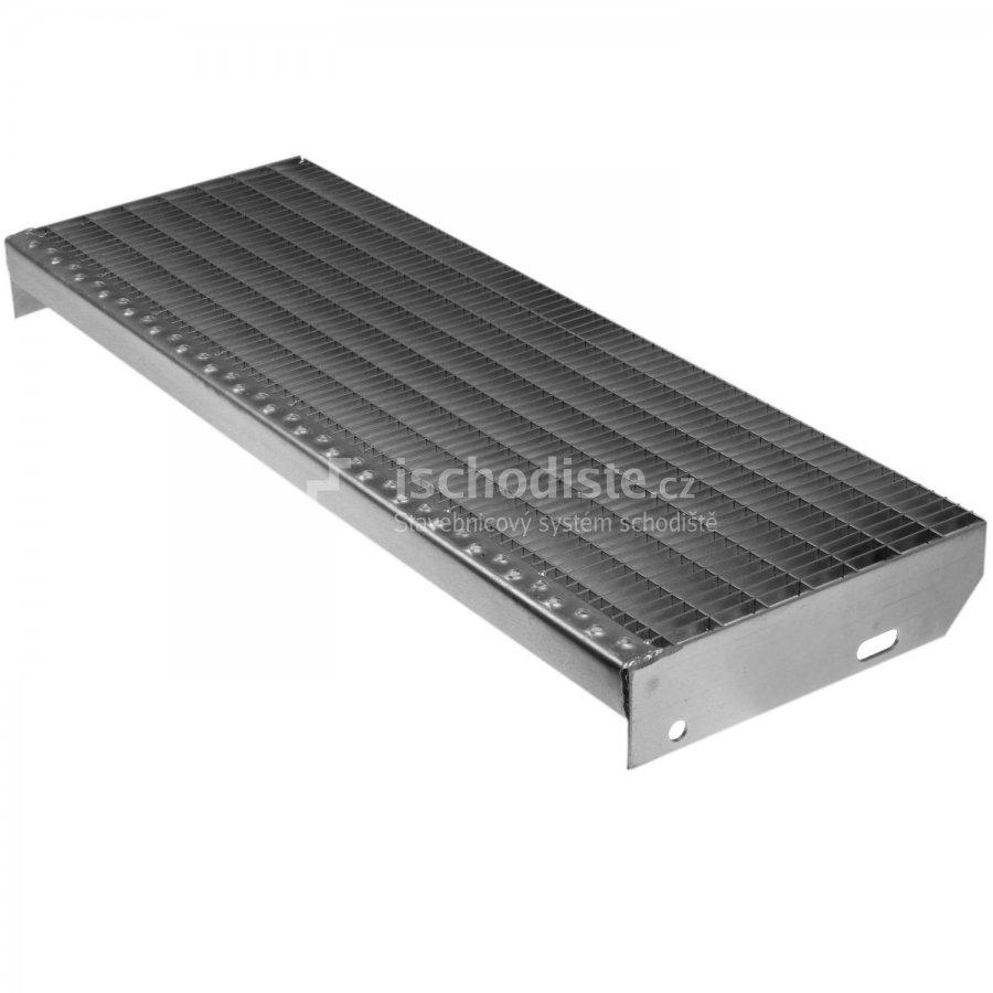 Schodišťový stupeň POROROŠT 1000 x 270 x 30 mm - 30/10 mm
